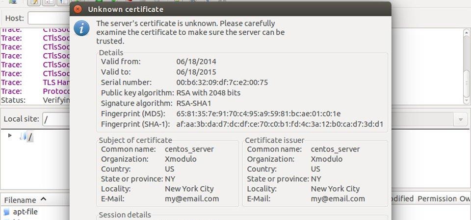 wordpress SSL certificate
